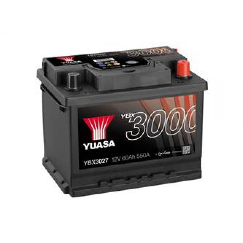 Yuasa 12V 60Ah SMF Battery YBX3027 (0)