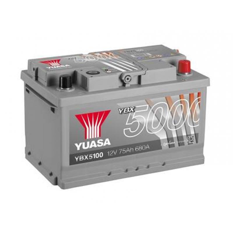 Yuasa 12V 75Ah Silver High Performance Battery YBX5100 (0)