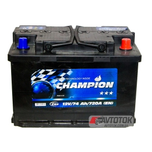 Champion BLACK 6CT-74 Ah/12V Euro (0)