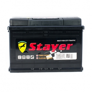 Stayer Black 6CT-77 Аh/12V A1 Euro
