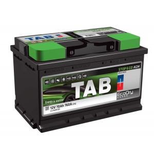 TAB EcoDry Stop & Go AGM 70 Ah/12V Euro (0)