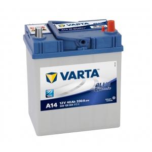 Varta Blue Dynamic 40 Ah 330A ASIA (A14) Euro (0) тонкая клемма